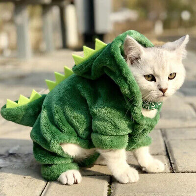 Pet Dog Clothes Winter Warm Dinosaur Coat Puppy Cat Hoodies Costumes  Cloth (Dinosaur Pet Kostüm)