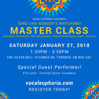 MASTER CLASS - Find Your True Voice and Conquer Stage Fright
