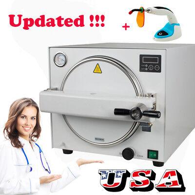 18l Dental Autoclave Steam Sterilizer Medical Sterilizition Curing Light Fda Ce
