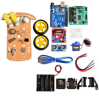 Avoidance Tracking Motor Smart Robot Car Chassis Kit 2wd Ultrasonic For Arduino.