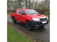 "2015 64 plate Toyota Hi-Lux 2.5D-4D 4WD Active Red 17"" Alloys, Tow Bar, Liner."