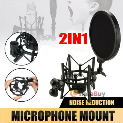 Mic Stand Clamp Studio Audio Recording Microphone Mount Clip