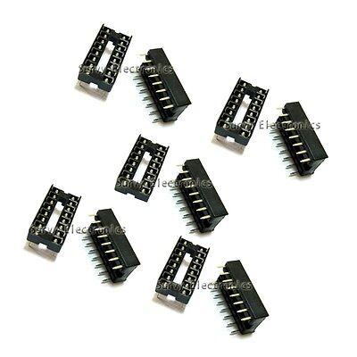 100pcs 16pin Dip Ic Socket Adaptor Solder Type Socket Pitch Dual Wipe Contact