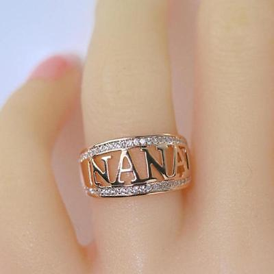 Luxury Silver Rose Gold Color Ring Sets Women Zircon Stone Wedding Jewelry W - Rose Gold Wedding Colors