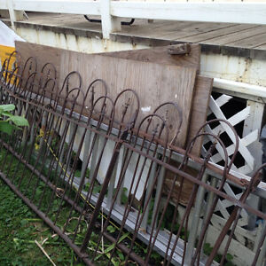 17' vintage wrought iron fence