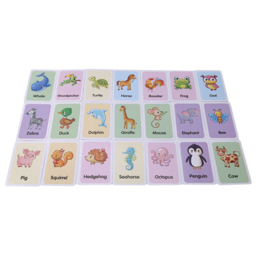 Shape Animal Color Cognition Card Toys For Baby Early Learni