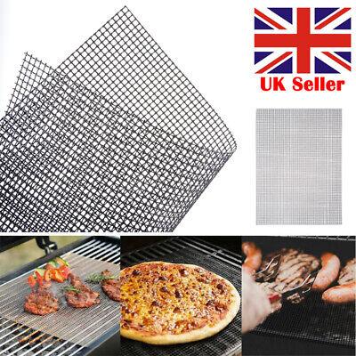 10Pcs BBQ Grill Mesh Non-Stick Mat Teflon Sheet Resistant Barbecue Meat Reusable