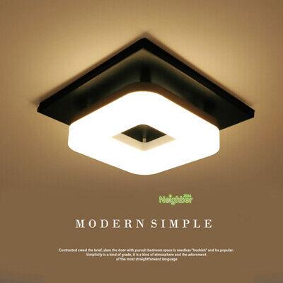 Modern Flush/Surface Mount LED Ceiling Light Hallway Porch Lamps Square