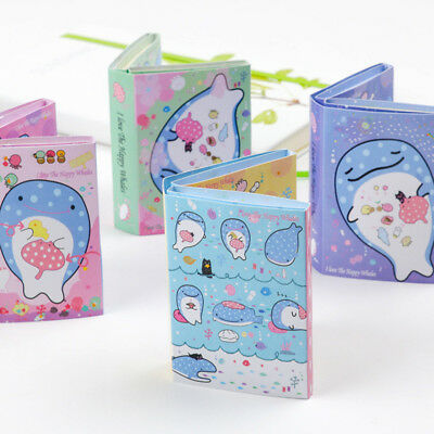 Happy Whale 6 Folding Memo Pad N Times Sticky Notes Kawaii Stationery Notepad