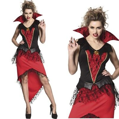 Sexy Mitternachtsherrin Vampirin Vampir Damen Kostüm Gr. L 44/46 Halloween #7914 (Vampir Halloween Damen Kostüm)
