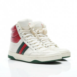 Womens Gucci White Ace High-Top Sneakers