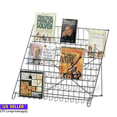 3 Pack - Black Wire Literature Display 6-tier Countertop Rack Books Dvd Cd New