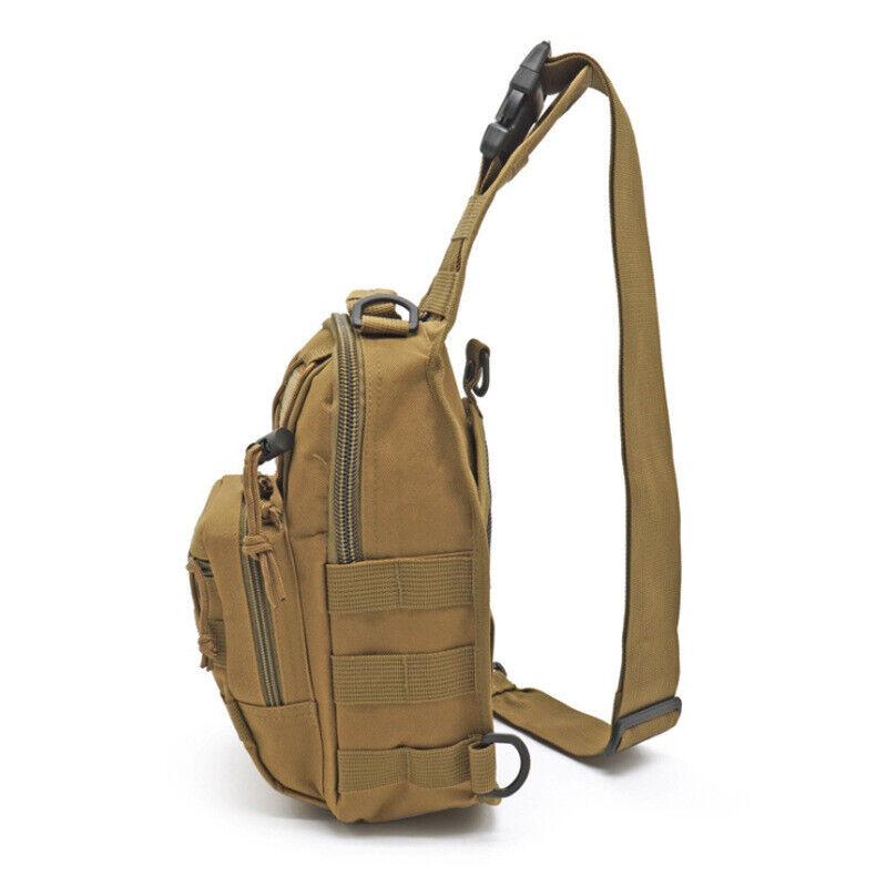 Men Backpack Molle Tactical Sling Chest Pack Shoulder Bag Outdoor Hiking Travel 8