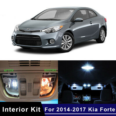 9x White LED Car Lights Interior Kit For 2014-2017 Kia Forte US Stock 1 Year Wty - Led New Years 2017