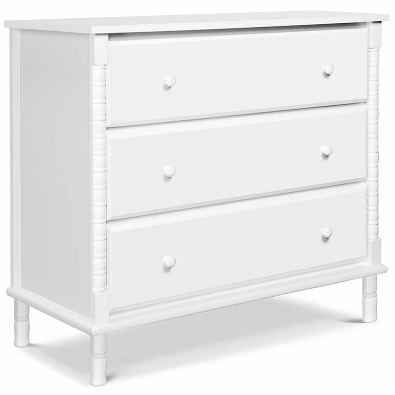 DaVinci Jenny Lind 3-Drawer Spindle Baby Dresser in White
