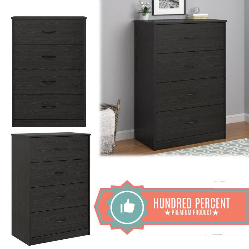 Mainstays 4-Drawer Dresser Multiple Colors Rustic Oak New
