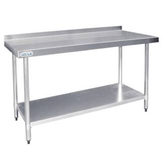 Silver Vogue Stainless Steel Prep Table with Splashback Under She Melbourne CBD Melbourne City Preview