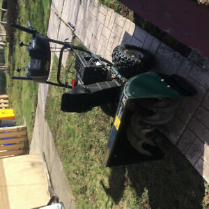 Contents of shed snow blower, weed eater, ladder, misc tools