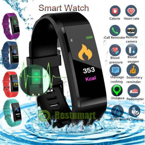 Smart Watch Band Heart Rate Blood Pressure Sleep Fitness Tracker Activity Sport