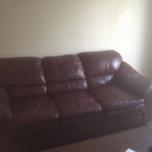 A leather couch need it gone quick