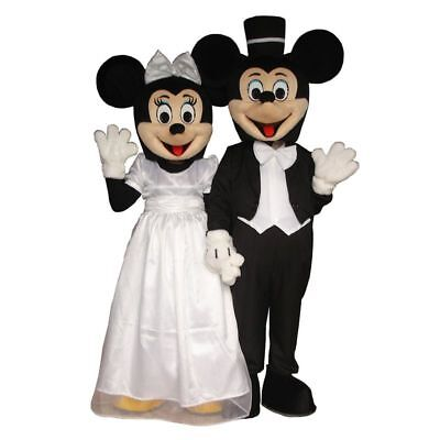 Wedding Mickey Minnie Mouse Couple Adult Mascot Costume Disney Prom Party Event  - Mickey Minnie Couple Costumes