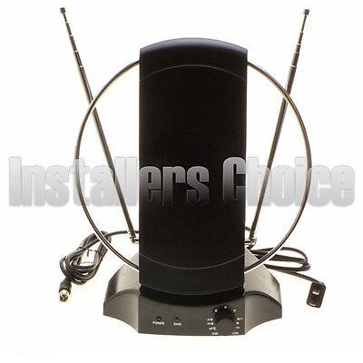 Digital Antenna Amplifier (Indoor Digital TV Antenna Table Amplified Signal Booster HDTV UHF VHF FM )