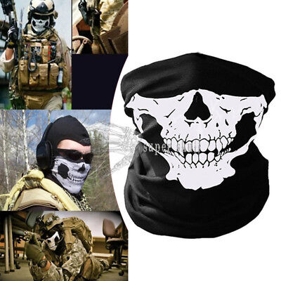 Skeleton Ghost Skull Face Mask Biker Balaclava Costume Halloween Cosplay New](Biker Halloween Costume)