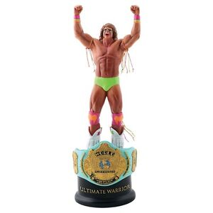 WWE Ultimate Warrior Championship Title Collection Statue