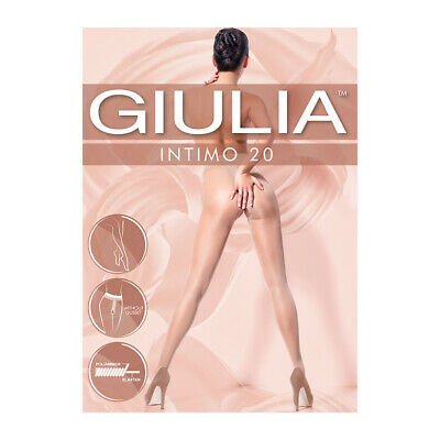 Giulia Intimo 20 Sheer Crotchless Tights Open Gusset Tights