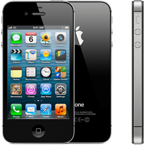 IPHONE 4S BLACK 16GB- LOCKED WITH FIDO