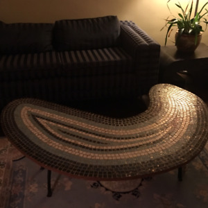 1960's Vintage hand made mosaic  coffee table