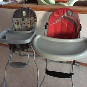 TWO Baby Car Seats, Double Stroller and TWO High Chairs