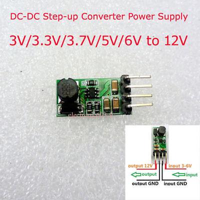 Mini Dc-dc Boost Step-up Power Supply Module Converter 3v3.3v3.7v5v6v To 12v