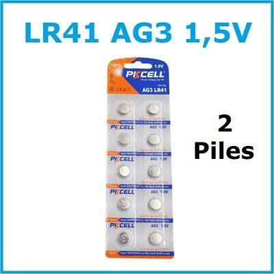2 PILES LR41 / AG3 / 192 / SR41W / 392 /...