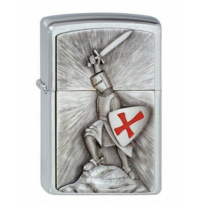 Zippo - Crusade Victory Windproof Lighter + Gift Box - Brushed Chrome - 1300103