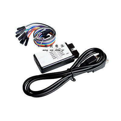 24mhz 8ch Usb Logic Analyzer 24mhz 8 Channel Compatible To Saleae Arm Fpga M100