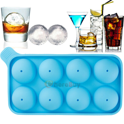 Round Silicon Ice Cube Balls Maker Tray ...