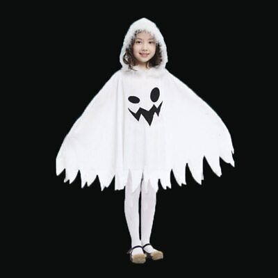 Elf Costume For Child (Toddler Girls White Spooky Ghost Costume Elf Fairy Costumes  Cape for Kids)
