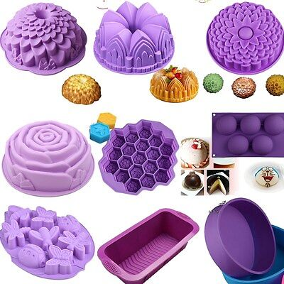 30pcs Silicone DIY Cake Pan Mould Bread Pizza Lasagna Baking Tray Bakeware Mold