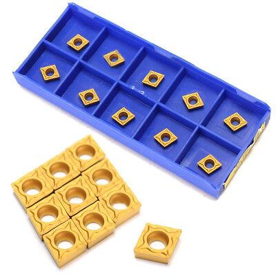 10pcs Ccmt060204-hm Ybc251 Carbide Inserts For Cnc Lathe Turning Tool 6x6mm