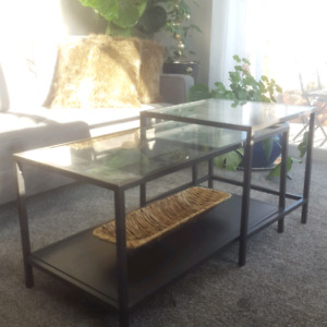Modern Glass Nesting Coffee Tables
