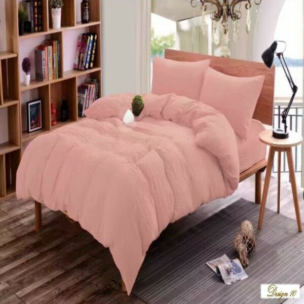 QUEEN BED PEACH Color Fitted BedSheet +2 Pillowcases Set. Plus Several OTHER COLORS & OTHER SIZES
