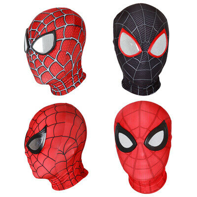Adult / Kids Spider-man Lenses Mask Cosplay Costume Avengers Face Mask Halloween - Font Halloween Spider