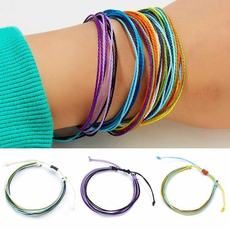 Handmade Weaving Natural Stone Bracelet Engraved Bangle Fashion Unisex Jewelry