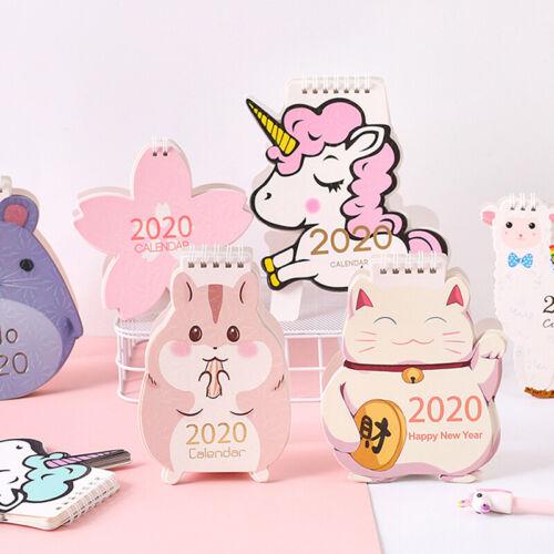 2020 Cute Laser Desktop Calendar Cherry Blossom Calendar Dai