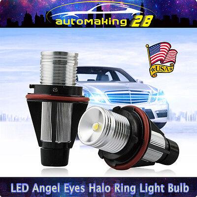Light Bulb Rings - PAIR 10W LED Angel Eye Halo Ring Light Bulb For BMW E39 E60 E63 E64 E53 X5 6000K