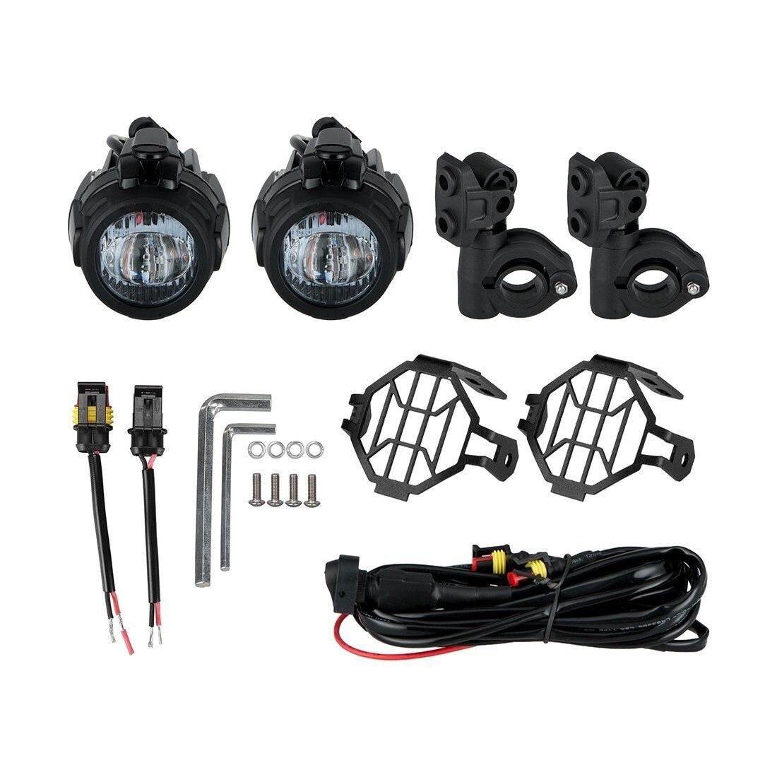 2x Led Auxiliary Fog Light Protector Cover Wiring Harness For Bmw Universal Ebay 9 Of 10 Motorcycle