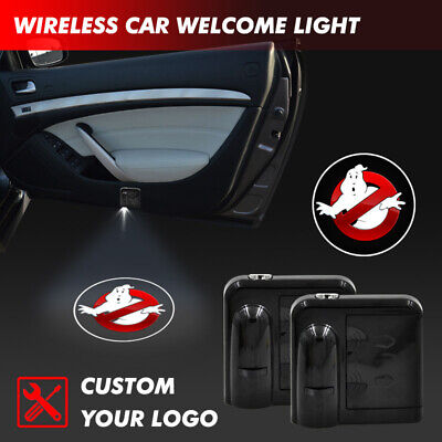 Car Door Projector Halloween Ghost Logo Welcome Laser LED Courtesy Shadow Light (Halloween Ghost Projector)