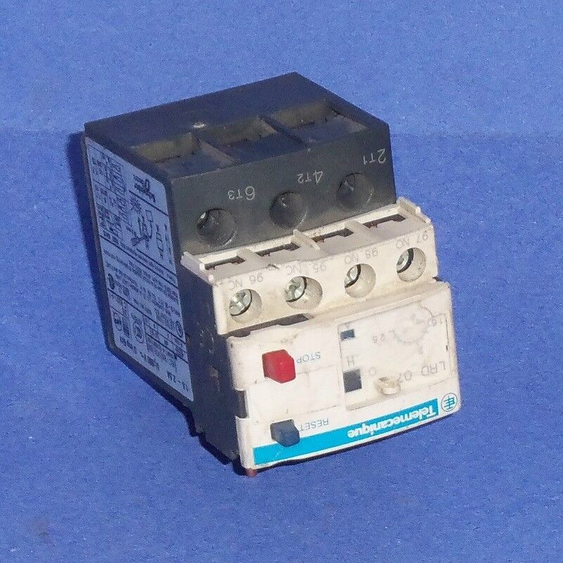 SCHNEIDER ELECTRIC TELEMECANIQUE 1.6-2.5A AUXILIARY OVERLOAD RELAY LRD 07 *PZB*