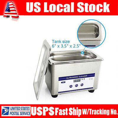 Stainless Steel Digital Ultrasonic Cleaner Sonic Cleaning Glasses Jewelry